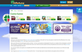 mFortune Casino homepage